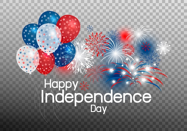 Glücklicher unabhängigkeitstag des ballons