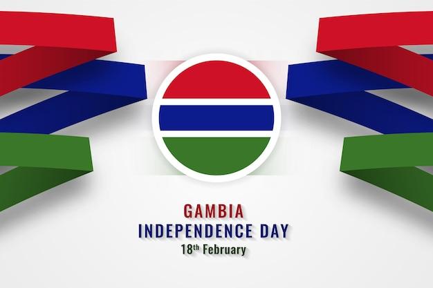 Glücklicher unabhängigkeitstag gambia