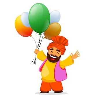 Glücklicher unabhängigkeitstag indien