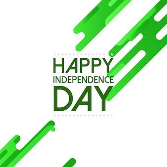 Glücklicher unabhängigkeitstag mit grünem illustrationshintergrund