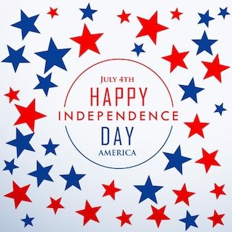 Glücklicher unabhängigkeitstag mit sternen