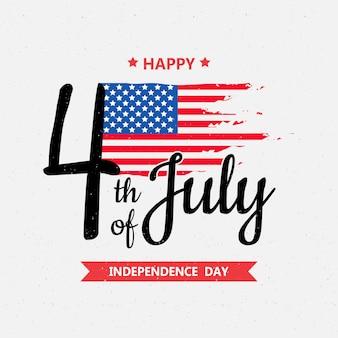 Glücklicher unabhängigkeitstag oder 4. juli