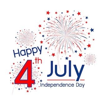 Glücklicher unabhängigkeitstag usa am 4. juli