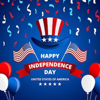 Glücklicher unabhängigkeitstag usa