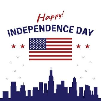 Glücklicher unabhängigkeitstag vereinigte staaten von amerika usa juli 4. plakat