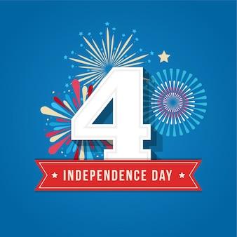 Glücklicher unabhängigkeitstag vereinigte staaten von amerika