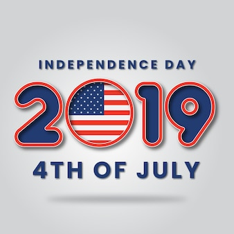 Glücklicher unabhängigkeitstag von amerika 4. juli 2019