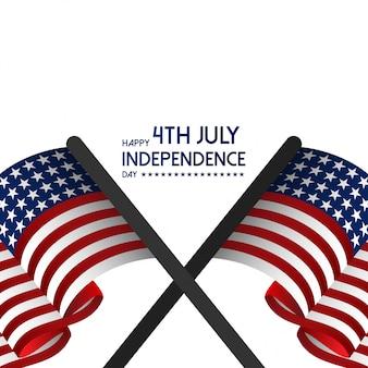 Glücklicher usa-unabhängigkeitstag am 4. juli.