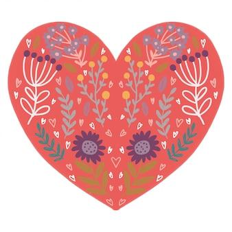 Glücklicher valentinsgruß-tag mit herz-form-design-vektor