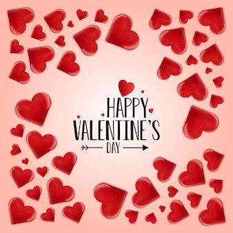 Glücklicher valentinsgruß-tagesvektor