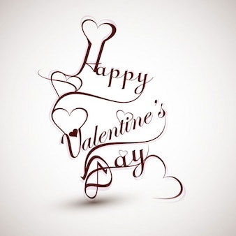 Glücklicher valentinsgrußtag kalligraphie