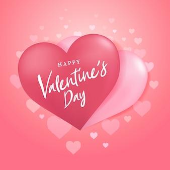 Glücklicher valentinsgrußtag mit paarherzballonform.