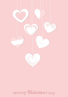 Glücklicher valentinsgrußtagesgrußkarten-designhintergrund