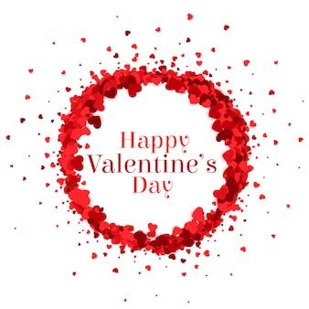 Glücklicher valentinsgrußtagesherz-rahmenhintergrund
