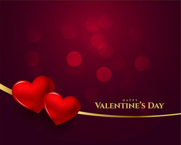 Glücklicher valentinstag 3d herzhintergrund