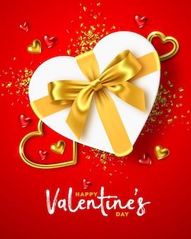 Glücklicher valentinstag-feiertagsentwurf Premium Vektoren
