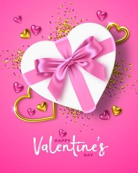 Glücklicher valentinstag-feiertagsgrußkartenentwurf