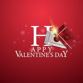 Glücklicher valentinstag - logo mit liebesbriefen