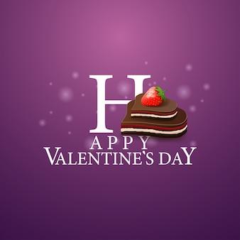 Glücklicher valentinstag - logo mit süßigkeiten
