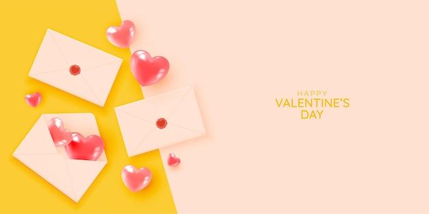 Glücklicher valentinstag mit niedlicher und reizender 3d kunstartillustration