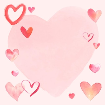 Glücklicher valentinstag-rahmenvektor