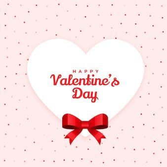Glücklicher valentinstag reizendes kartenentwurf mit band
