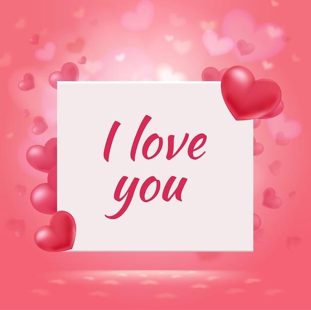Glücklicher valentinstag romantischer hintergrund