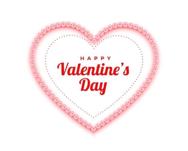 Glücklicher valentinstag rote herzen dekorativer hintergrund