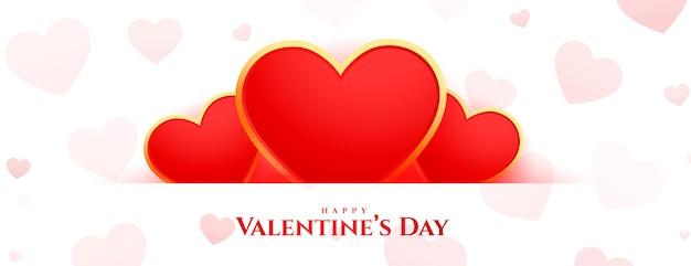Glücklicher valentinstag schönes banner