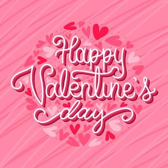 Glücklicher valentinstag schriftzug