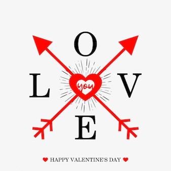 Glücklicher valentinstag typografischer hintergrund