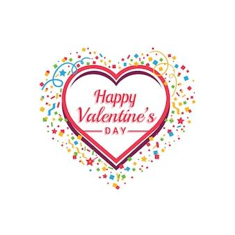 Glücklicher valentinstag-vektor-hintergrund