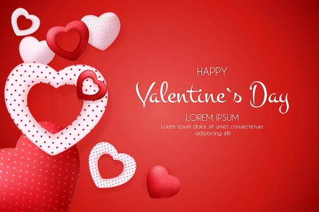 Glücklicher valentinstaghintergrund mit herzen.