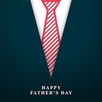Glücklicher vatertag wünscht hintergrund mit krawatte