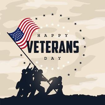 Glücklicher veteranen-tag
