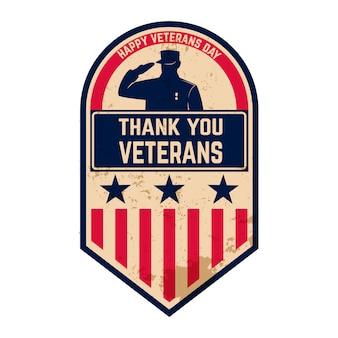 Glücklicher veteranentag