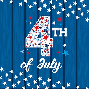 Glücklicher vierter juli. unabhängigkeitstagkarte