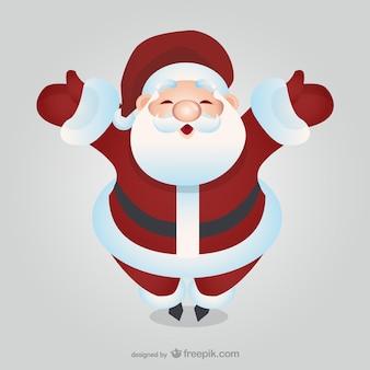 Glücklicher weihnachtsmann-cartoon