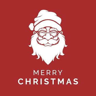 Glücklicher weihnachtsmann, der frohe weihnachten sagt