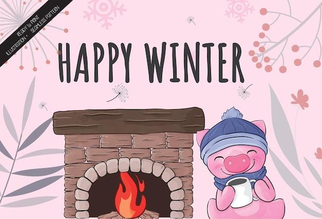 Glücklicher winter
