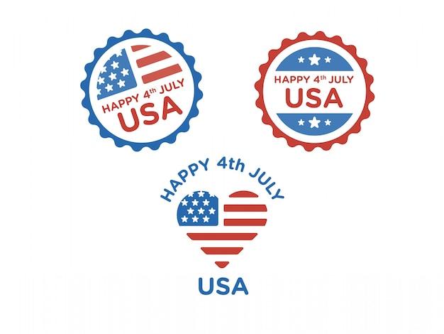 Glückliches 4. juli-abzeichen