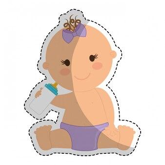 Glückliches babyikonenbild