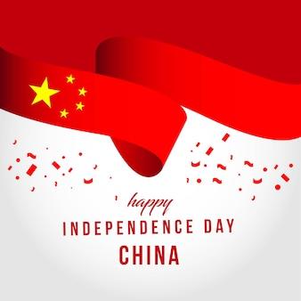 Glückliches china-unabhängiges tagesvektor-schablonen-design