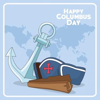 Glückliches columbus-tagesdesign