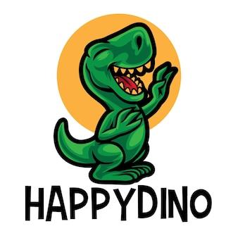 Glückliches dino-cartoon-logo