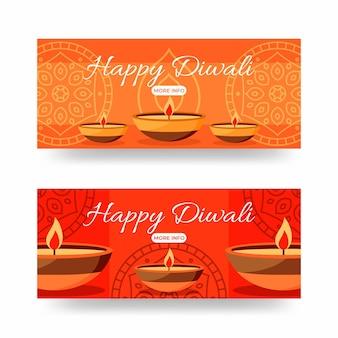 Glückliches diwali-banner-konzept