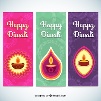 Glückliches diwali banner