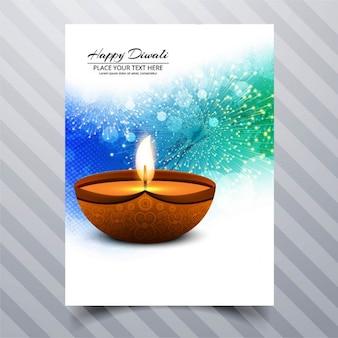 Glückliches diwali broschüre