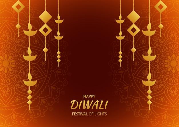 Glückliches diwali-festival der hellen feier. grußkarte
