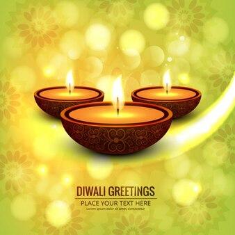Glückliches diwali glänzenden hintergrund